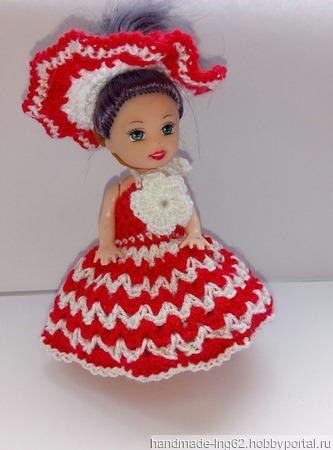 Красное платье для маленькой принцессы ручной работы на заказ