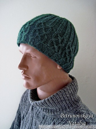 "Мужская шапка  ""Аvocado"" ручной работы на заказ"