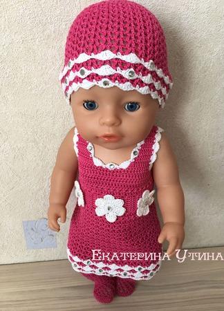 Одежда для baby born (комплект с платьем) ручной работы на заказ