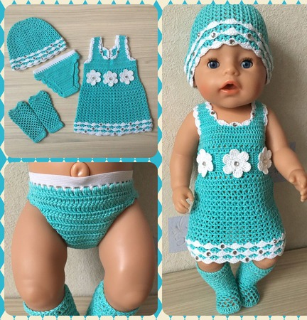 Комплект одежды для baby born ручной работы на заказ