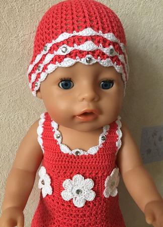 Комплект (платье для baby born) ручной работы на заказ