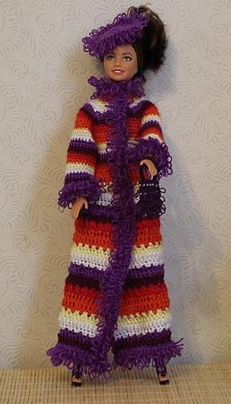 Пальто для Барби ручной работы на заказ