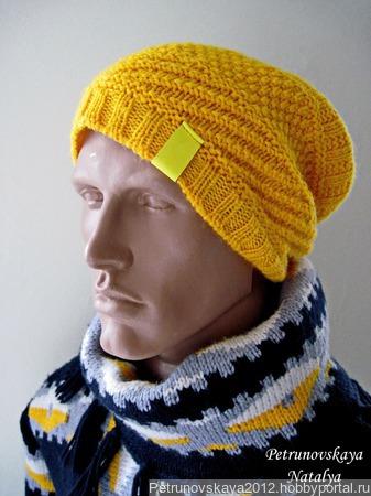 """Мужская шапка-бини """"Youth"""" ручной работы на заказ"""