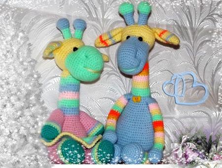 Радужные жирафики ручной работы на заказ