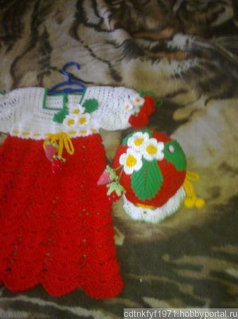 Платье клубничка ручной работы на заказ