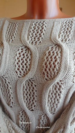"""Пуловер из хлопка """"Замок на песке"""" ручной работы на заказ"""
