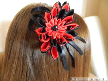 """Ободок для волос """"Кармен"""" ручной работы на заказ"""