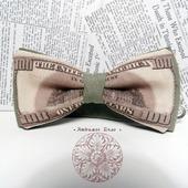 """Галстук бабочка """"Доллары"""""""