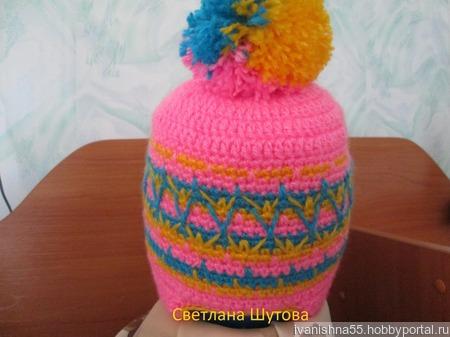 Тёплая шапочка ручной работы на заказ