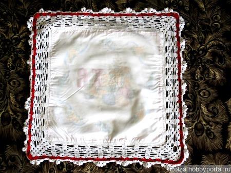Пасхальная салфетка обвязанная крючком ручной работы на заказ