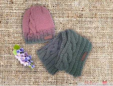 Шапочка и шарфик ручной работы на заказ