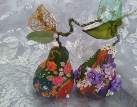Декоративные груши-саше в ассортименте ручной работы на заказ
