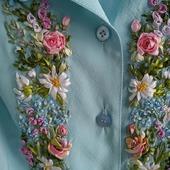 Платье, вышитое лентами  на заказ