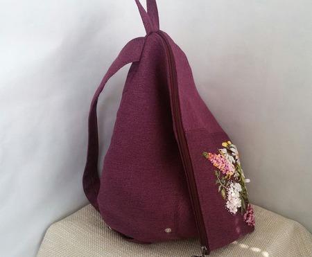 Городской рюкзак с оттенком багульника ручной работы на заказ