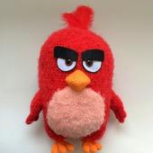 Схема и описание Красный кардинал Red Angry birds (вязание крючком)