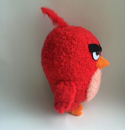 Схема и описание Красный кардинал Red Angry birds (вязание крючком) ручной работы на заказ