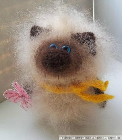 Котик Сиамский сувенир ручной работы на заказ