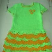 Платье для девчушки 5- 6 лет