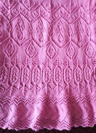 "Платье ажурное ""Розовая дымка"" ручной работы на заказ"