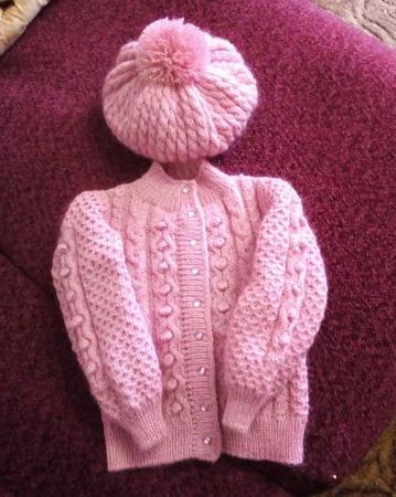 Комплект зимний для девочки ручной работы на заказ