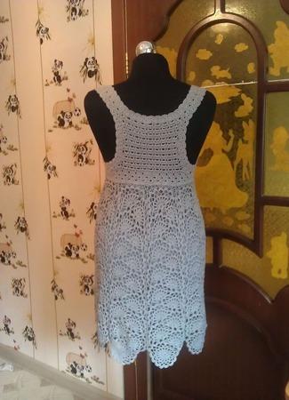 """Коктейльное платье """"Серебряная дымка"""" ручной работы на заказ"""