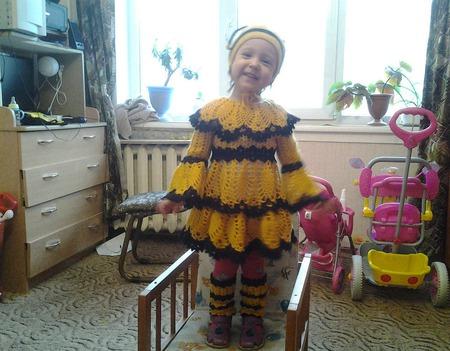 """Платье детское """"Пчелка"""" ручной работы на заказ"""