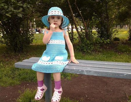 """Платье детское """"Незабудка"""" ручной работы на заказ"""