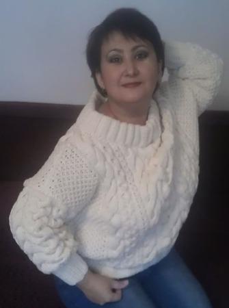 Пуловер в стиле Рубан ручной работы на заказ