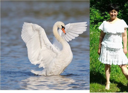 """Костюм """"Лебедь белая"""" авторская работа ручной работы на заказ"""