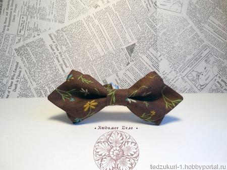 """Галстук-бабочка """"Веточки"""" ручной работы на заказ"""