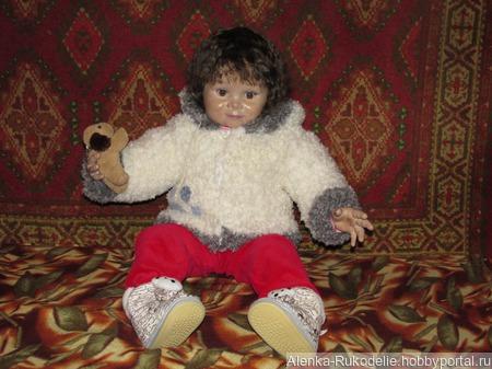 "Вязаная куртка ""Умка"" для малыша. ручной работы на заказ"