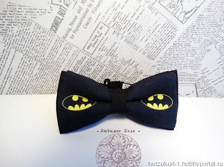 "Галстук - бабочка ""Бэтмен"" ручной работы на заказ"