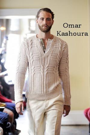 Пуловер-поло от Оmar Kashoura ручной работы на заказ