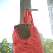 Модный рюкзак из трикотажной пряжи