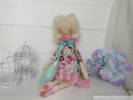"Интерьерная кукла ""Спящая царевна"" (шебби-шик) ручной работы на заказ"