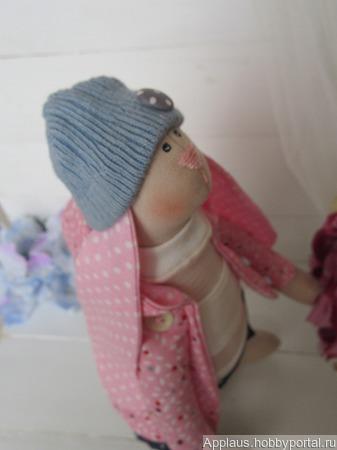 Зайка-Тильда. Розовый сон. ручной работы на заказ