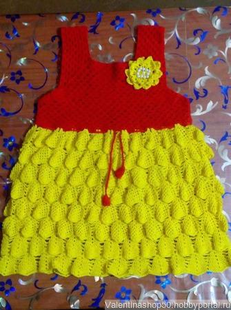 Детское платье Солнышко ручной работы на заказ
