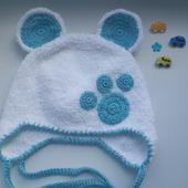Шапочка-мишка для малыша