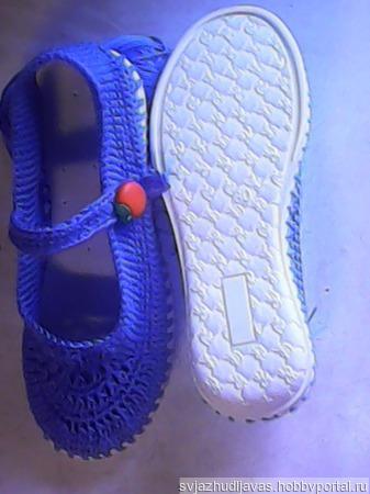 Туфли вязаные для девочки ручной работы на заказ