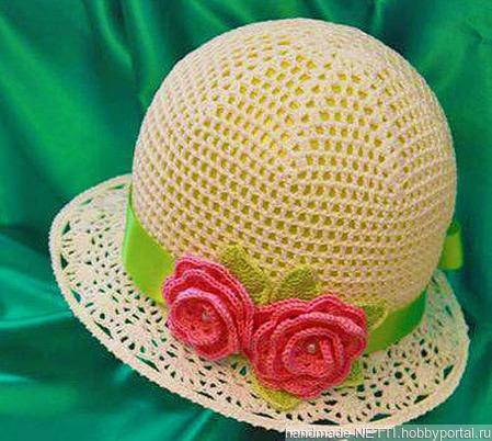 Летняя шляпка ручной работы на заказ