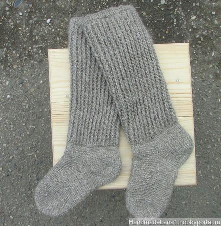 Гольфы вязаные Теплая зима ручной работы на заказ