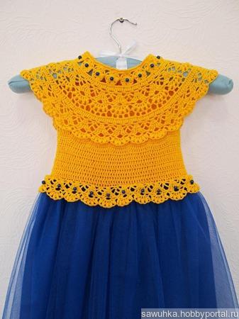 Комбинированное платьице ручной работы на заказ