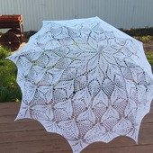 Зонтик вязаный ажурный