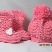 Шапочки и сапожки для малышей