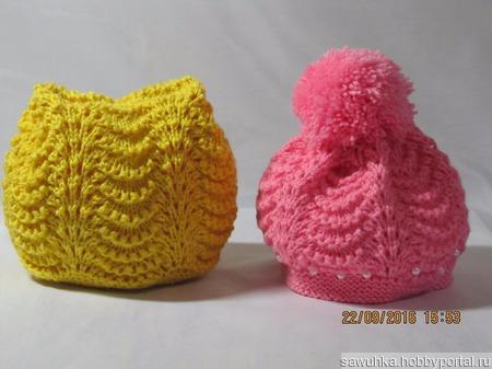 Шапочки и сапожки для малышей ручной работы на заказ