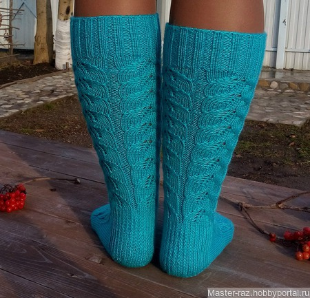 Носки вязаные ажурные ручной работы на заказ