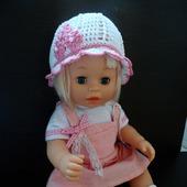 Панамка и туфельки для куклы