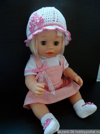 Панамка и туфельки для куклы ручной работы на заказ