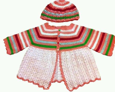 Комплект для девочки (шапочка+туника) ручной работы на заказ