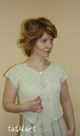 """Ажурное платье+ болеро """"White dance II"""" ручной работы на заказ"""